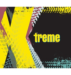 Exreme rally car background vector