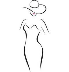 Fashion Lady in a Hat vector