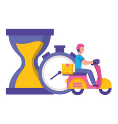 Fast delivery logistic vector