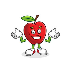 Feeling sorry apple mascot apple character vector