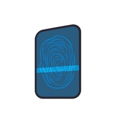 Fingerprint code security system protection icon vector image