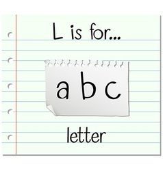 Flashcard letter L is for letter vector