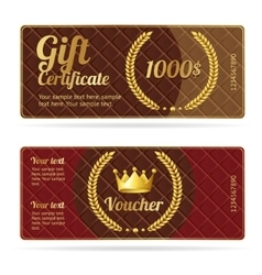 Gift certificate voucher vector