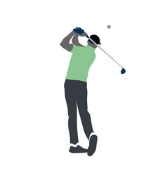 golf player logo vector image