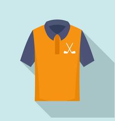 Golf polo shirt icon flat style vector