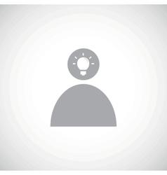 Grey idea icon 2 vector