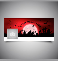 Halloween timeline cover design vector