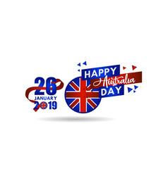 Happy australia day template design vector