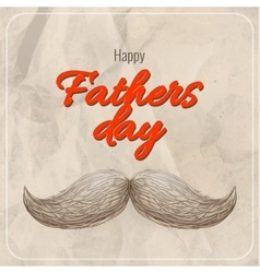 Happy Fathers day EPS 10 vector image