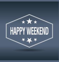 Happy weekend vector