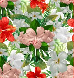 hibicus flowers pattern 4 vector image