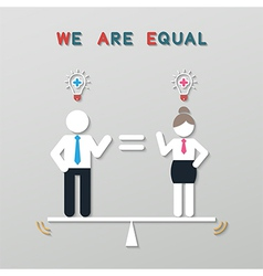 Idea balance business concept vector