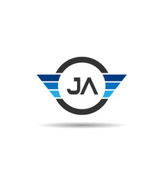 initial letter ja logo template design vector image
