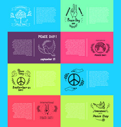 international peace day 8 pics vector image