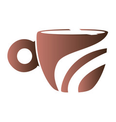 isolated abstract coffee mug logo vector image