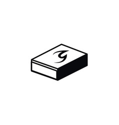 Isolated matchbox icon ignite element can vector