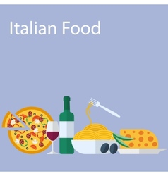 Italian food flat background vector