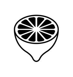 Lemon half fruit cross-section - icon vector