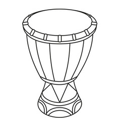Line art black and white mexican drum vector