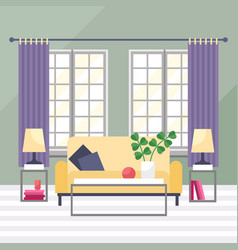 living room cozy furniture vector image