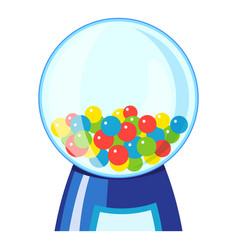 Machine gumball icon cartoon style vector