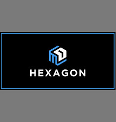 Md hexagon logo design inspiration vector