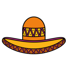Mexican hat traditional icon vector
