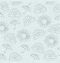 Monochrome background with pattern of sun and vector
