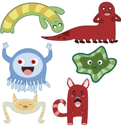 monsters4 vector image