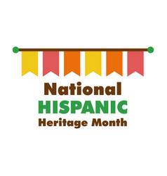 National hispanic heritage lettering with garlands vector