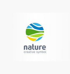 nature creative symbol planet concept organic vector image