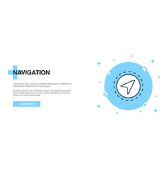 navigation icon banner outline template concept vector image
