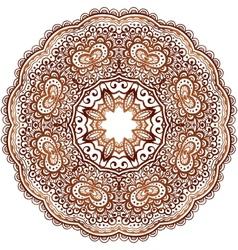 Ornamental round paisley vector
