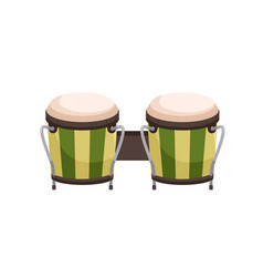 paired bongos drum african and cuban percussion vector image