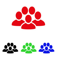 People crowd icon vector