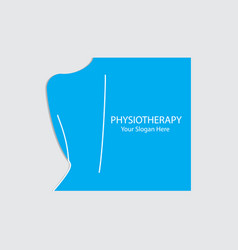 Physiotherapy logo design vector