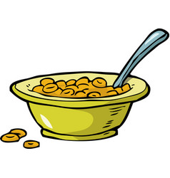 Plate of cereal vector