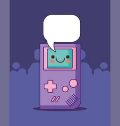 Portable videogame design vector