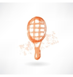 racket grunge icon vector image