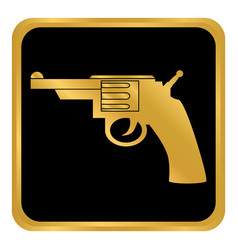 revolver button on white vector image