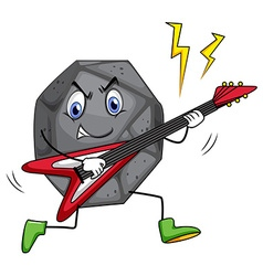 Rock star playing guitar vector