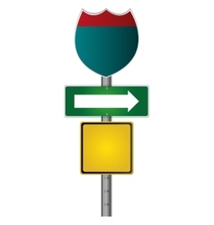 Route traffic sign icon vector