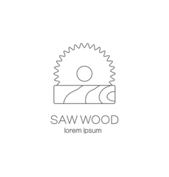 Saw wood logotype design templates vector