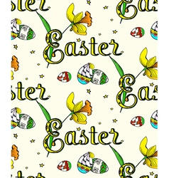 Seamless Easter2 pattern vector image