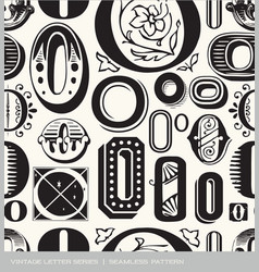 seamless vintage pattern letter O vector image