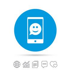 Selfie smile face sign icon self photo symbol vector