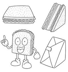 set of sandwich vector image