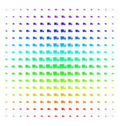 shipment van shape halftone spectrum effect vector image
