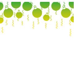 silhouette christmas circle balls decoration vector image