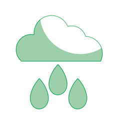 silhouette cloud with rain and natural weather vector image